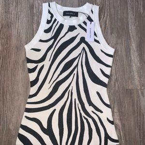 YIGAL AZROUËL Fully Fashioned Ribbed Zebra Tank !!